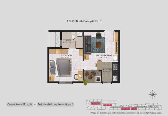 Jasmine Springs 1 BHK flat for sale in OMR Chennai (2)