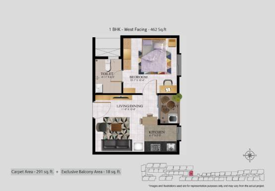 Jasmine Springs 1 BHK flat for sale in OMR Chennai (4)
