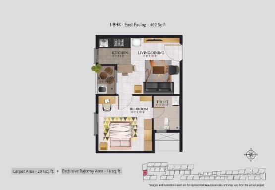 Jasmine Springs 1 BHK flat for sale in OMR Chennai - 1