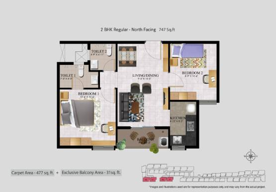 2 BHK Flats in OMR - R4